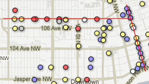 corridor of death A dozen years of homicides mapped