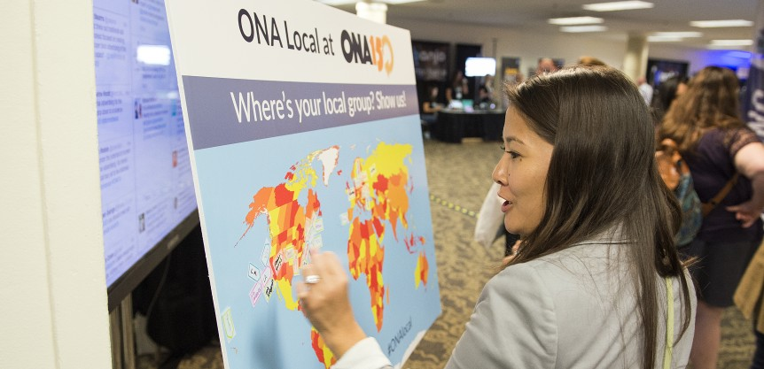 LOS ANGELES, CA - SEPTEMBER 24: The 2015 Online News Association Conference at the Hyatt Regency Century Plaza Hotel on September 24, 2015 in Los Angeles, California. (Photo by Daniel Petty/for ONA)